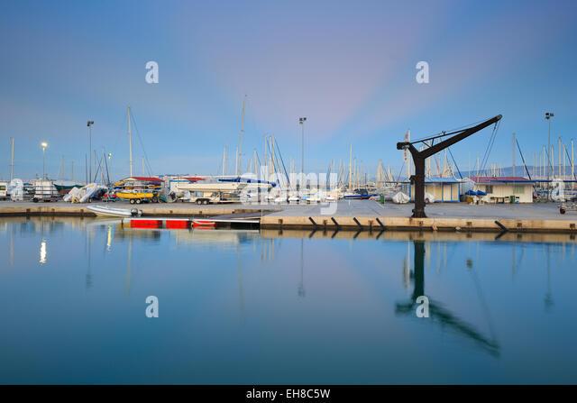 Sailing club in Kallithea in Athens, Greece - Stock Image