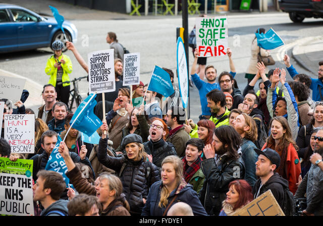 Bristol, UK. 26th April, 2016. Hundreds joined a protest march through Bristol at the end of the first day of a - Stock Image