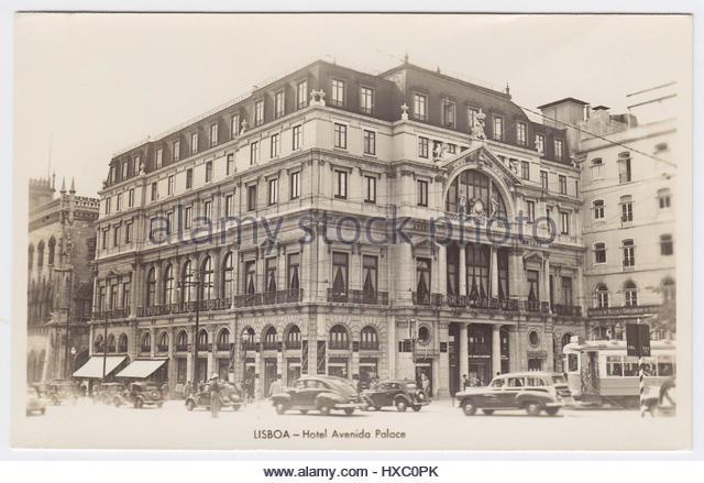Hotel Avenida Palace & Rua 1 De Dezembro, Lisbon, Portugal - Stock Image