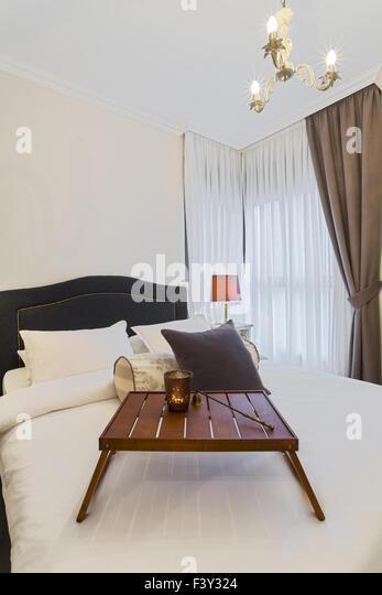 Luxury Bright Bedroom - Stock Image