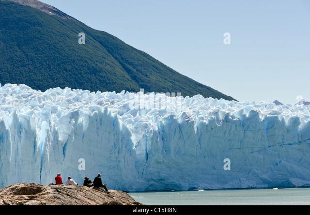 Perito Moreno glacier, Patagonia, Argentina - Stock Image