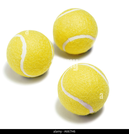 Three tennis balls - Stock Image
