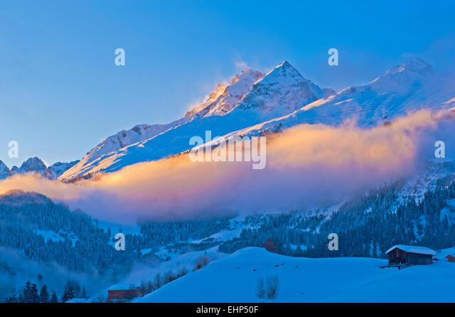 La Hotel Brigels Luxury Travel Switzerland Ski Spa - Stock Image