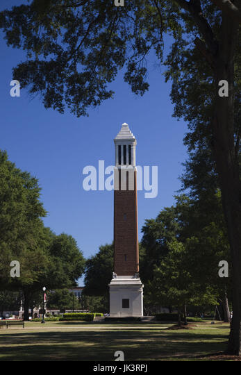 USA, Alabama, Tuscaloosa, University of Alabama, the Denny Chimes - Stock Image