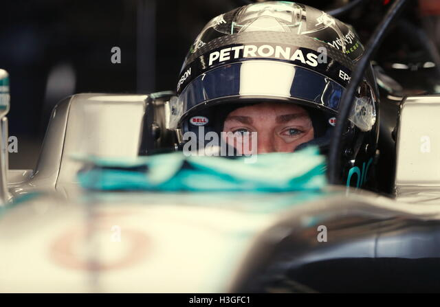 Suzuka, Japan. 8th Oct, 2016. Nico Rosberg (GER) F1 : Japanese Formula One Grand Prix at Suzuka Circuit in Suzuka, - Stock-Bilder
