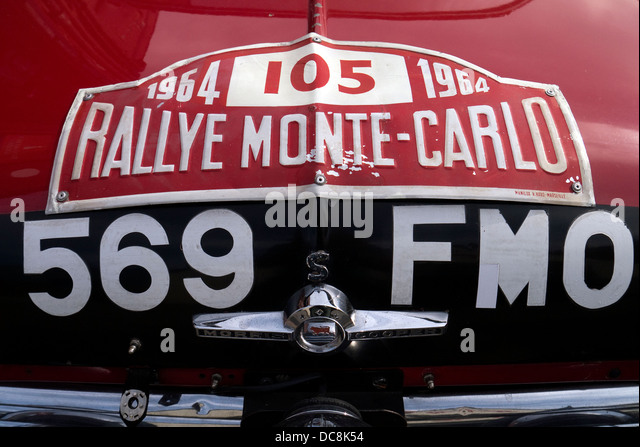 1964 Morris Mini cooper Monte Carlo Rally car driver Rauno Aatonen / Navigator tony Ambrose. - Stock Image
