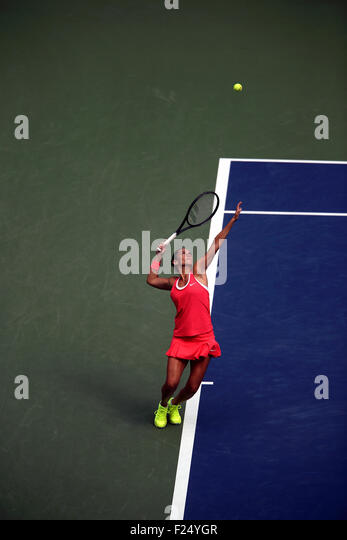 Flushing Meadows, New York, USA. 11th Sep, 2015. Roberta Vinci of Italy during her upset victory over Serena Williams - Stock Image