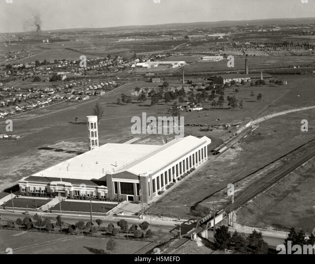 Ford Motor Company Factory - 2 Aug1937 - Stock Image