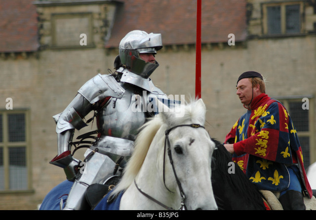 Knight and squire - Stock Image