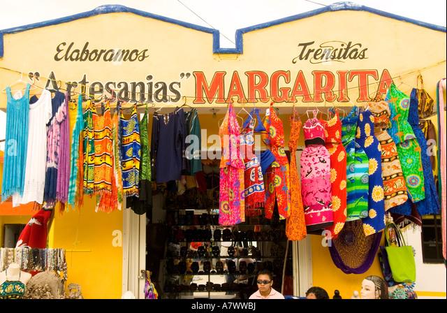 Puerto Costa Maya Mahahual Majahual fishing village shop - Stock Image