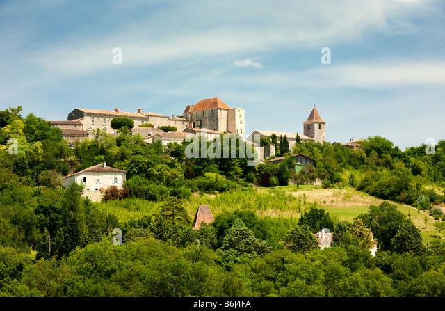 The hilltop town of Gramont in Tarn et Garonne, France, Europe - Stock-Bilder
