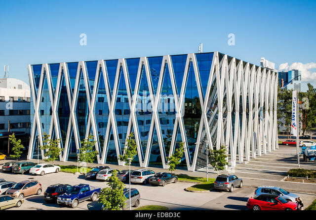 Headquarters of the Estonian shipping company Tallink, Tallinn, Estonia - Stock Image