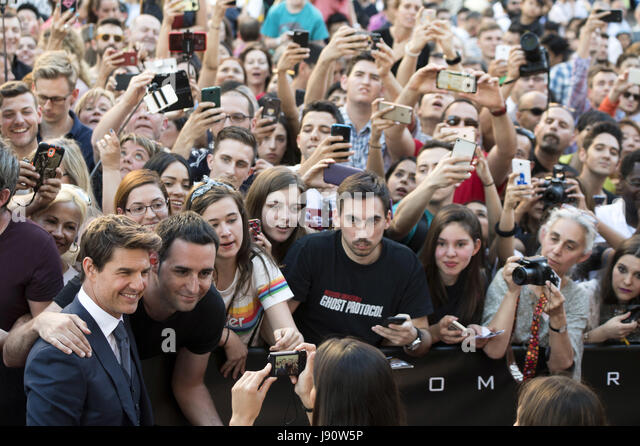 Madrid, Spain. 29th May, 2017. Tom Cruise attends 'The Mummy' premiere at Callao Cinema on May 29, 2017 - Stock Image