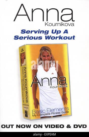 2000s UK Anna Kournikova Basic Elements Magazine Advert - Stock Image