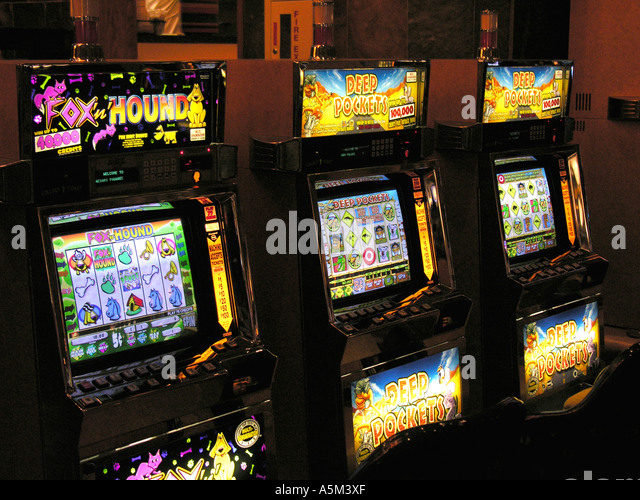 Las Vegas casino slot machines - Stock Image