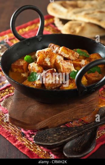 Paneer tikka masala Indian Tandoori grilled cheese vegetarian dish - Stock Image