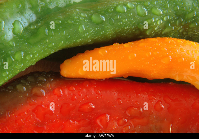Organic peppers 2 of 3 - Stock Image