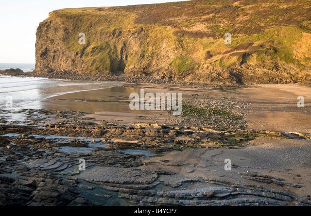 Crackington Haven, Cornwall, England - Stock Image