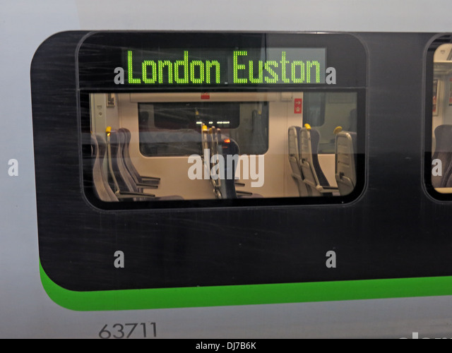 London Midland Railway Coach 63711 at London Euston station England UK - Stock Image