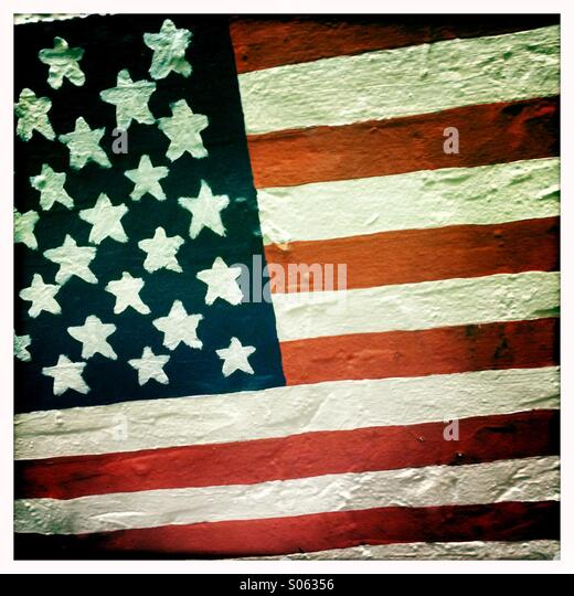 Graffiti American flag - Stock-Bilder
