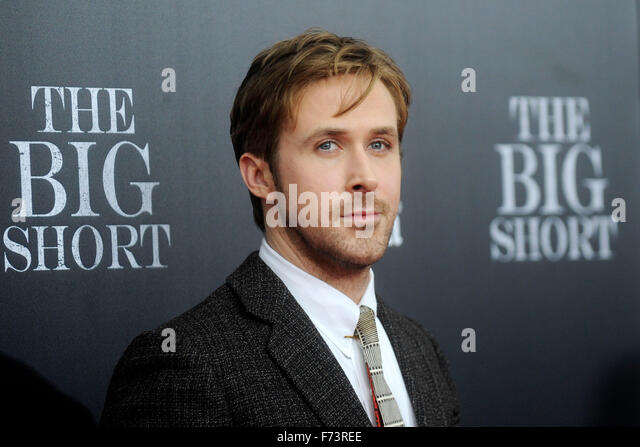 New York City. 23rd Nov, 2015. Ryan Gosling attends 'The Big Short' New York Premiere at Ziegfeld Theater - Stock Image