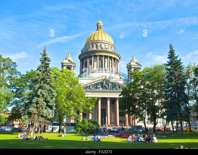 St. Petersburg, Russia - July 03, 2012: cathedral of St. Isaac. - Stock Image