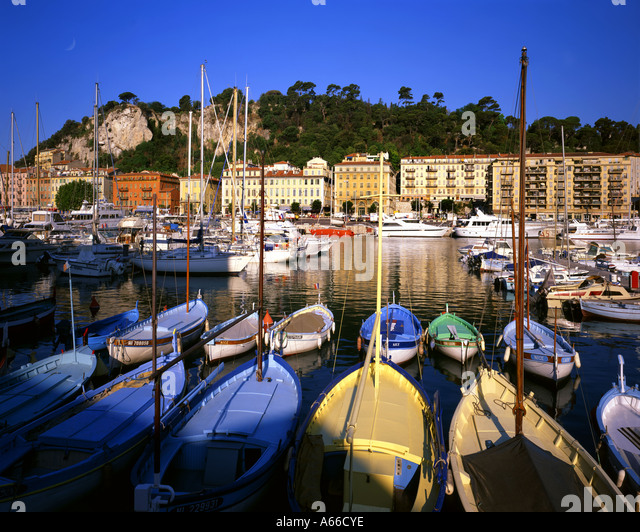 FR - COTE D'AZUR:  The Harbour at Nice - Stock Image