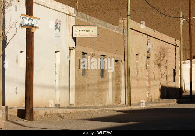 Street in San Antonio de los Cobres a small town in Salta district Argentina - Stock Image