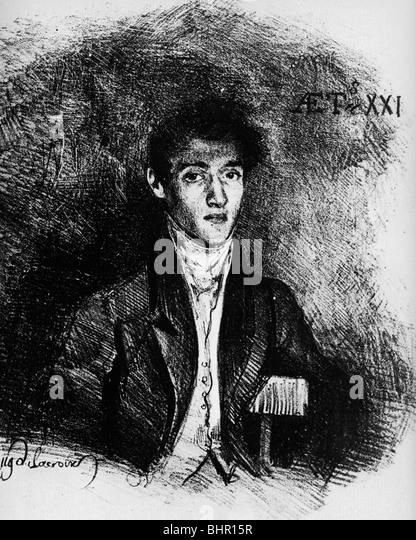 Eugene Delacroix  Le Baron Schwiter  1826 - Stock Image