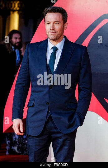 The European Premiere of BATMAN V SUPERMAN: DAWN OF JUSTICE on 22/03/2016 at The Empire & ODEON Leicester Square, - Stock Image