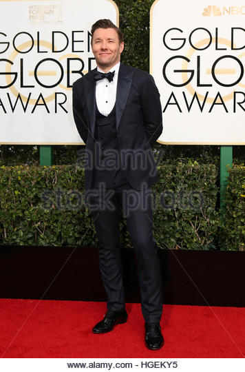 Actor Joel Edgerton arrives at the 74th Annual Golden Globe Awards in Beverly Hills, California, U.S., January 8, - Stock-Bilder