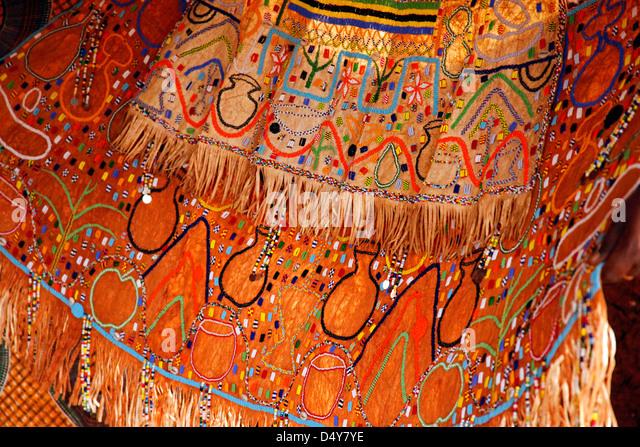 Tanzania, Karatu. Iraqi Beaded Wedding Dress - Stock Image