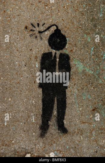 street art/graffiti - Stock Image