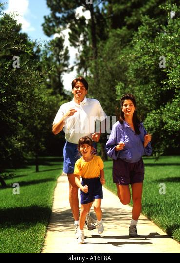 Mother Jog Child Stock Photos & Mother Jog Child Stock ... Hispanic Family Exercise