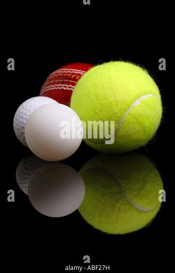 sports balls - Stock Image
