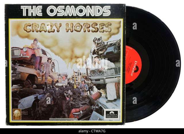 Crazy Horses by The Osmonds - Stock Image