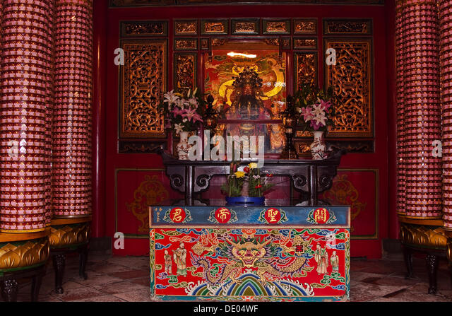 Longshan Temple, Taipei, Taiwan, Asia - Stock Image