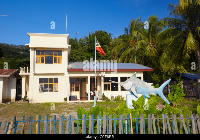 Fishery Office in Com, Timor-Leste, Asia - Stock Image