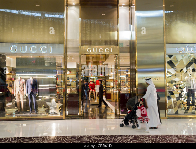 Gucci luxury shopping stock photos gucci luxury shopping for Gucci hotel dubai