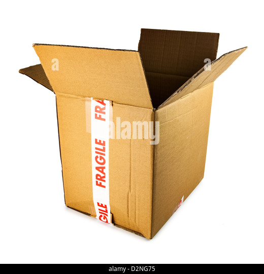 open cardboard box - Stock Image