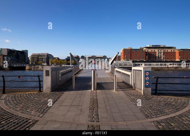 The Sean O'Casey Bridge Across the River Liffey, Dublin City, Ireland - Stock Image