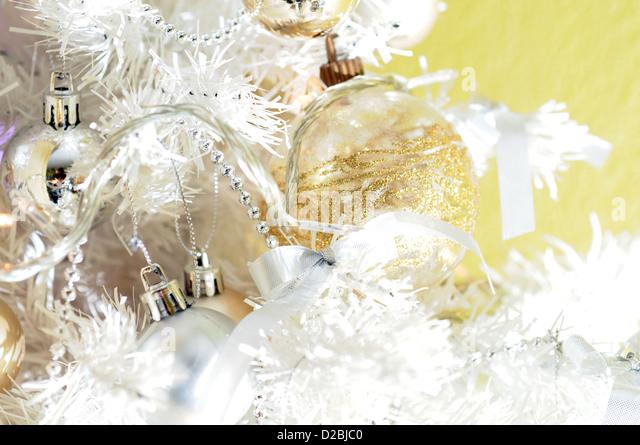 Christmas tree with ball - Stock Image