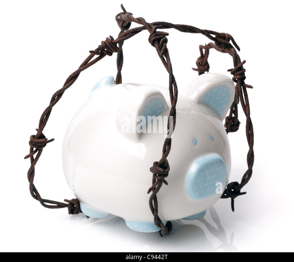 Protect your savings - Stock Image