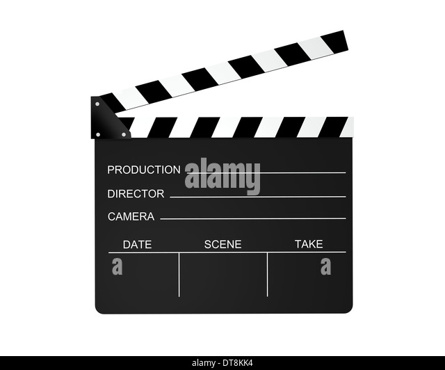 Film slate isolated on a white background. - Stock-Bilder