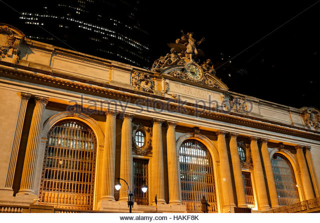 Grand Central Station at Night in New York City, New York, USA - Stock Image