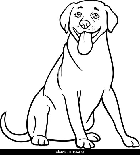 black coated retriever coloring pages - photo#31