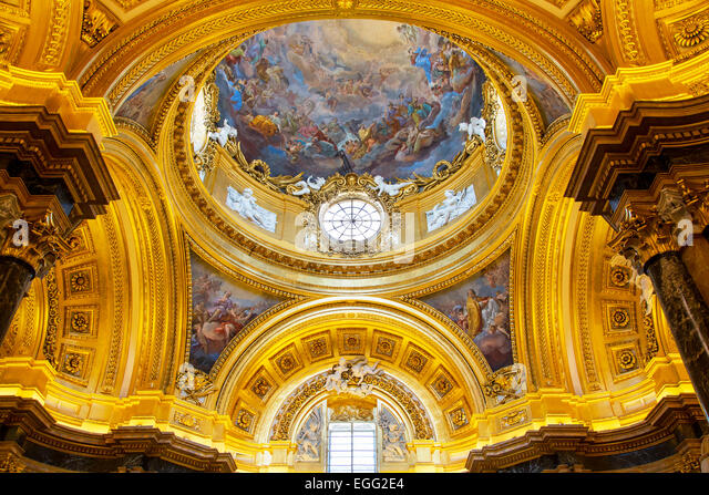 Baroque Dome of Royal Palace in Madrid. - Stock-Bilder