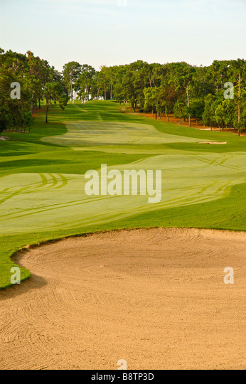 Florida golf course fairway Inverness Golf and Country Club Inverness Tarpon Spings Fl - Stock Image
