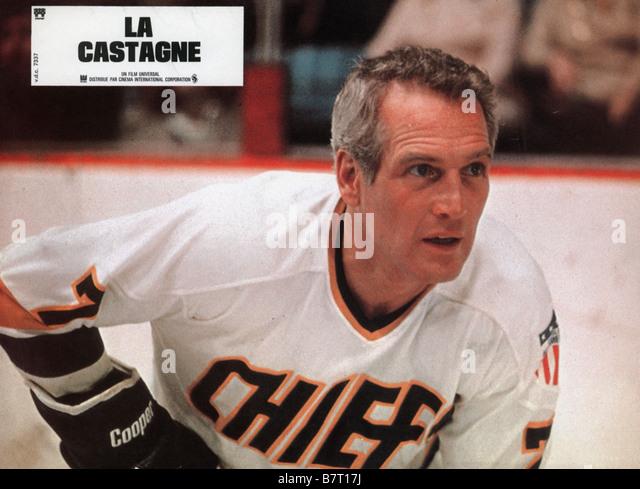 La castagne Slap Shot Année 1977 usa Paul Newman Réalisateur George Roy Hill - Stock Image