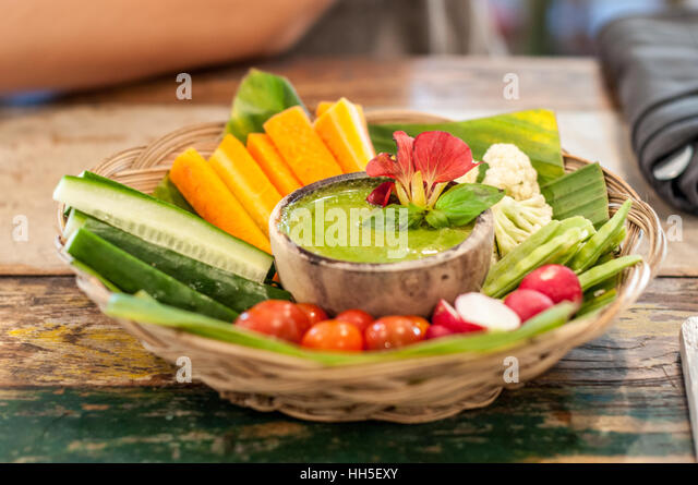 vegan dish - Stock Image